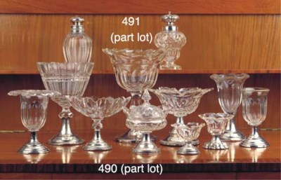 (11) Eleven various cut-glass