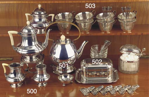 (5) A Dutch silver coffee serv