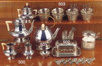 (5) A Dutch silver coffee serv