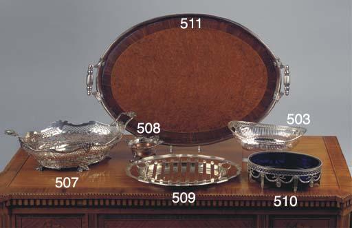 A Dutch oval mahogany and waln