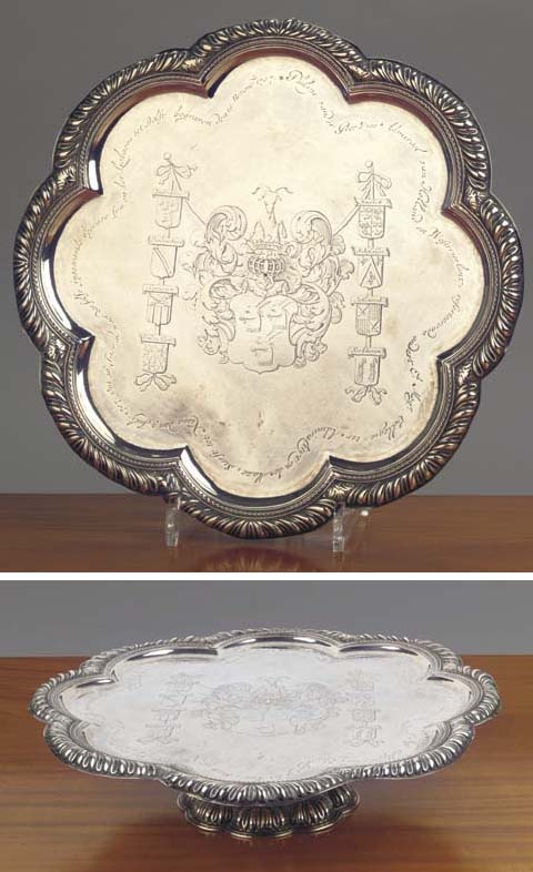 A Dutch silver dish on foot