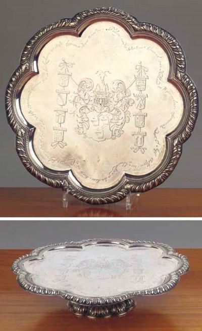 A Dutch silver dish on foot