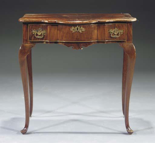 A Dutch mahogany tea table