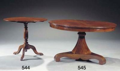 An English mahogany tripod tab