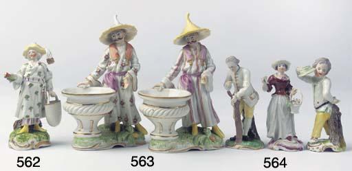 (3) Three Frankenthal porcelai