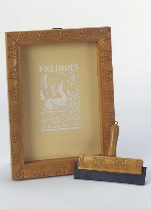 (2) An Ex Libris silk-screen p