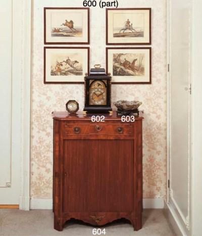 A Dutch mahogany side cupboard