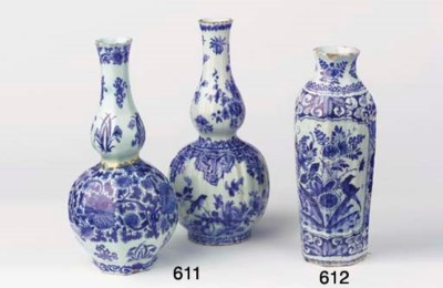 (2) Two Dutch Delft blue and w