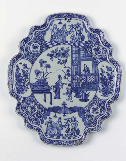 A Dutch Delft blue and white s