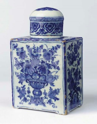 (2) A large Dutch Delft blue a