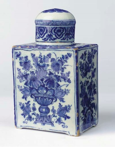 (2) A large Dutch Delft blue a