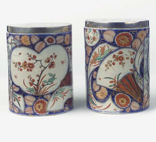 (4) A pair of Delft doré 'Imar