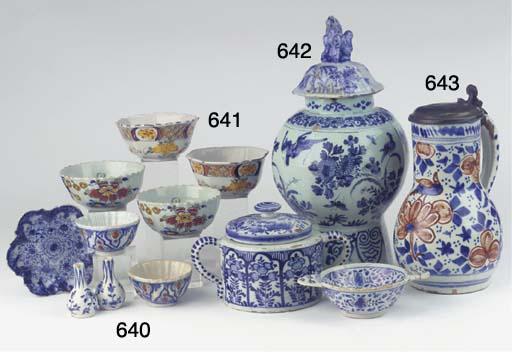 (10) Nine Dutch Delfte various