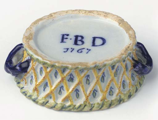 A Dutch Delft dated polychrome