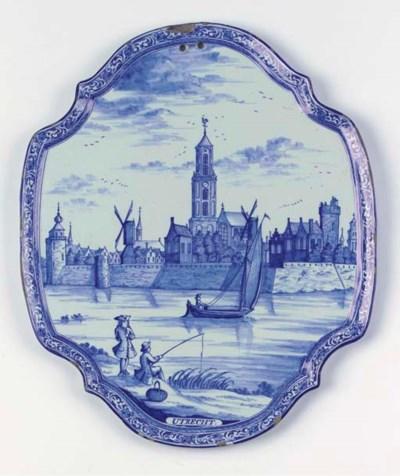 A Dutch Delft blue and white q