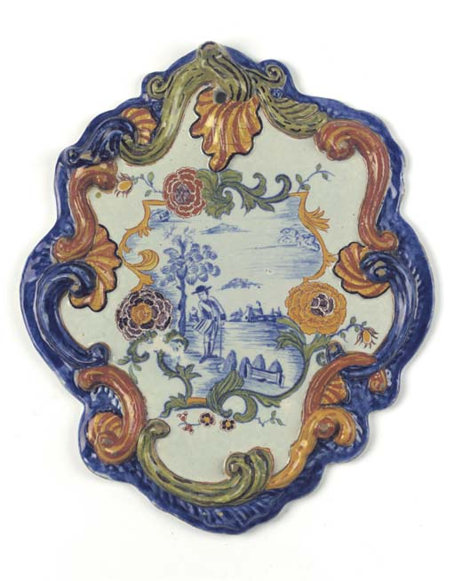 A Dutch Delft polychrome shape