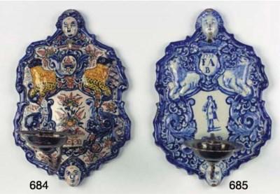 (2) A Dutch Delft polychrome s