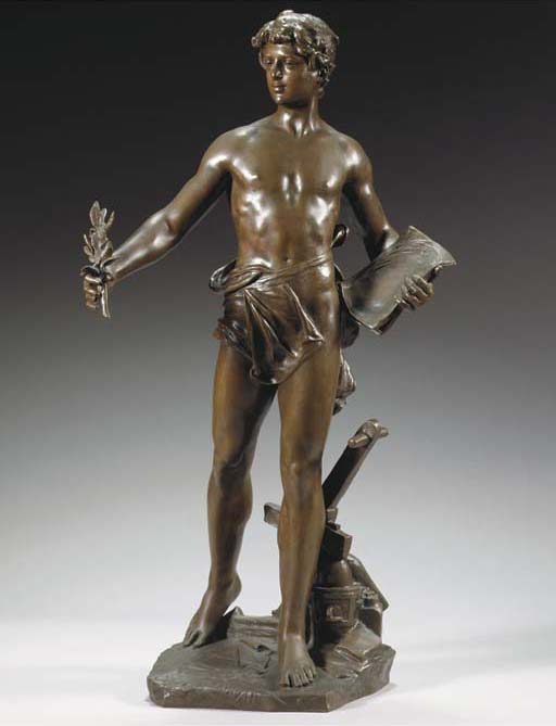 Cast after a model by Eugène Marioton (French, 1857-1933), 20th Century