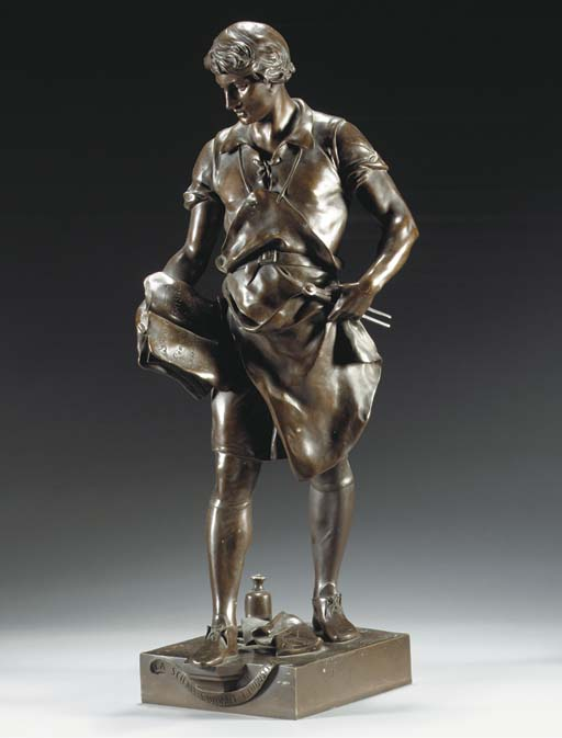 Cast from a model by Emile Louis Picault (French, 1833-1915), late 19th or early 20th Century