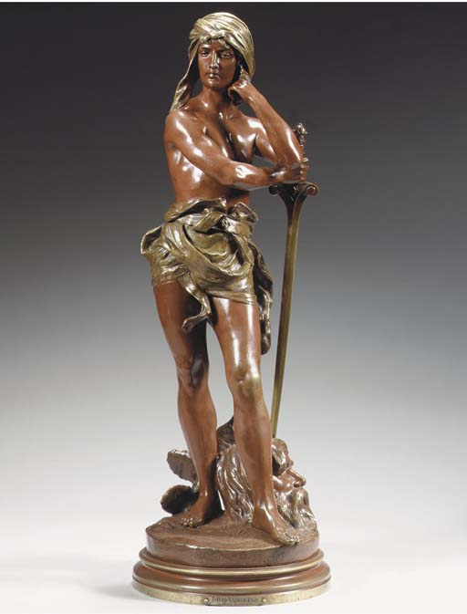 Cast from a model by Henri Hon
