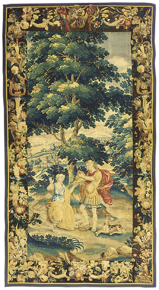 A BRUSSELS PASTORAL TAPESTRY F