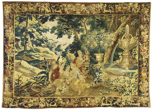 A FLEMISH ALLEGORICAL TAPESTRY