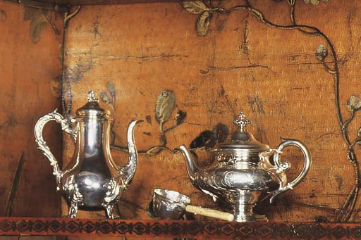 A FRENCH SILVER SMALL COFFEE-P