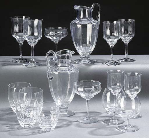 A Baccarat table service
