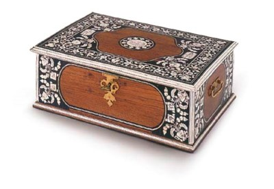 AN INDIAN IVORY INLAID EBONY A