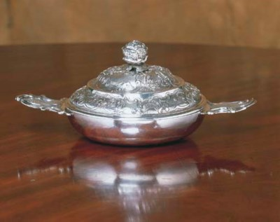A LOUIS XV SILVER ECUELLE WITH
