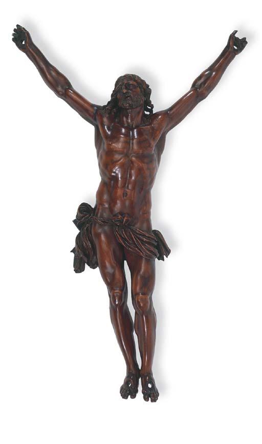 A SCULPTED WOOD CORPUS CHRISTI