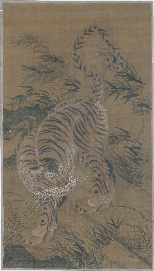 A Korean painting of a tiger