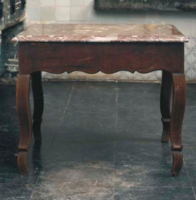A LOUIS XV WALNUT GRAINED CENT