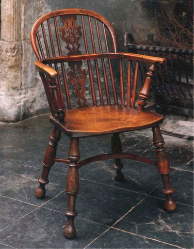 AN ENGLISH YEW-WOOD AND ELM WI