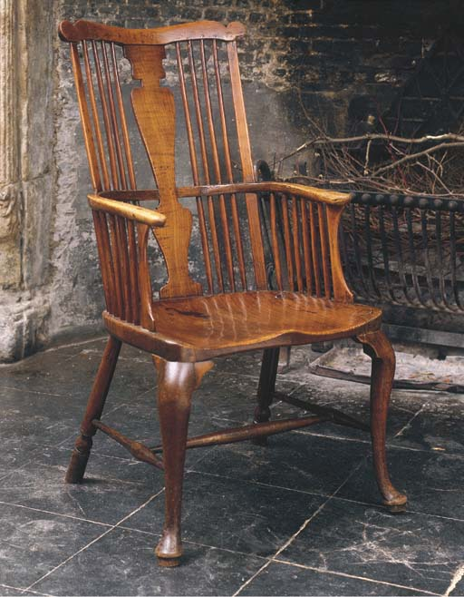 A GEORGE III FRUITWOOD AND ELM