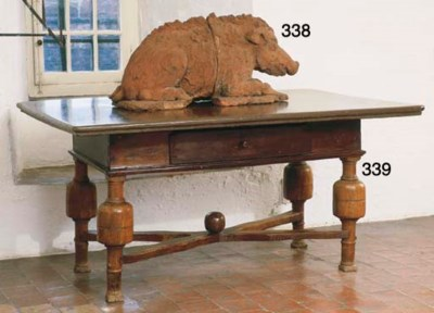 A FRENCH TERRACOTTA MODEL OF A