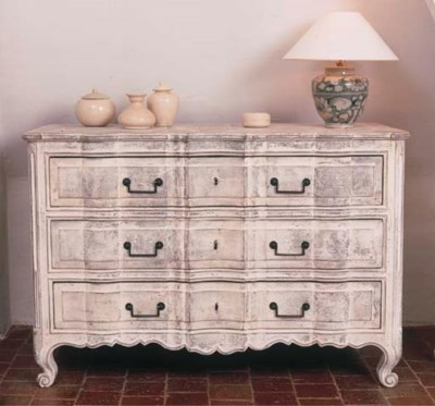 A FRENCH PROVINCIAL IVORY-PAIN