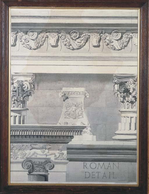 H.HIRST ROMAN DETAIL