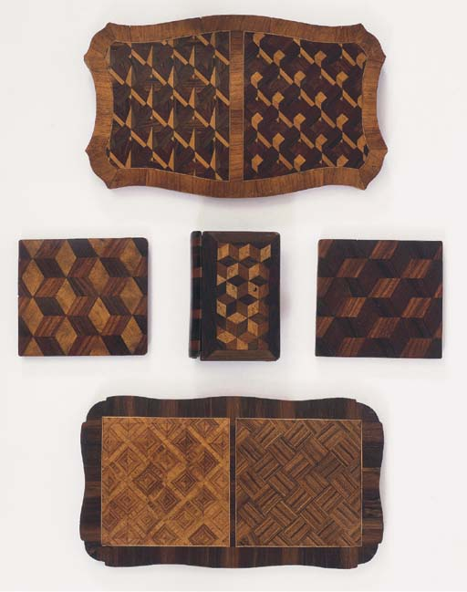 A COLLECTION OF PARQUETRY VENE