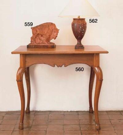 A SWISS WALNUT SIDE-TABLE
