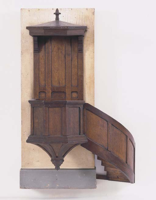 A FRENCH OAK AND PAINTED-WOOD