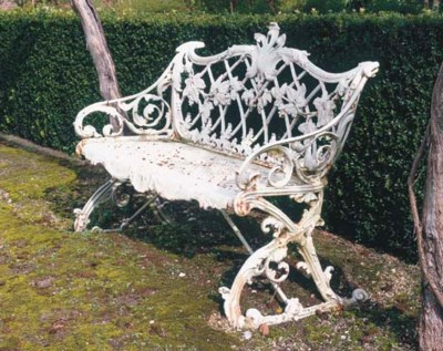 AN ENGLISH WHITE-PAINTED IRON
