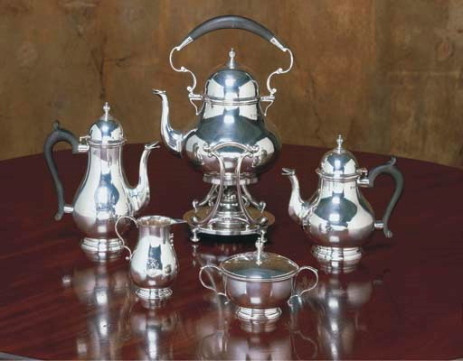 AN ENGLISH SILVER COFFEE AND T