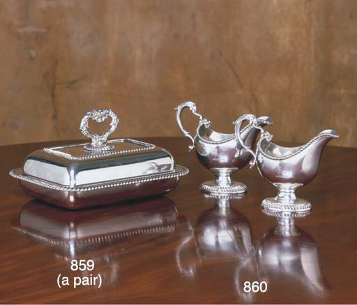 A PAIR ENGLISH SILVER-PLATED E