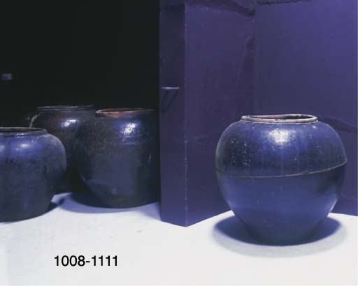 A LARGE CHINESE GLAZED POTTERY