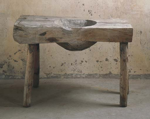 A PINE RUSTIC WASHSTAND