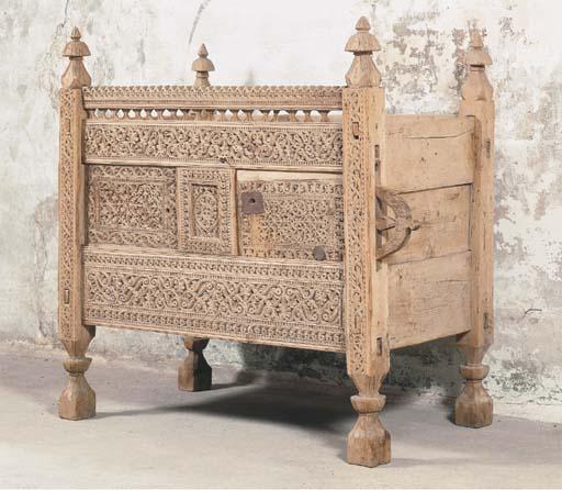 AN AFGHANISTAN PINE CARVED COF