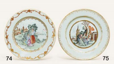 A FAMILLE ROSE MEISSEN-STYLE P