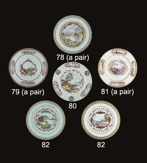 A PAIR OF FAMILLE ROSE MEISSEN