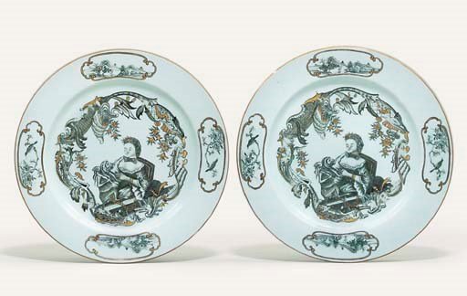 A PAIR OF RARE GRISAILLE AND G